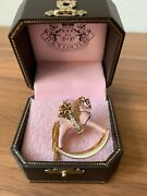 New Juicy Couture Pink Rocking Horse Charm For Bracelet Necklace Keychain