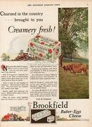 1927 Swift's Brookfield Butter Dairy Product Cow Vintage Farm Kitchen Décor Ad