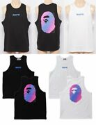 A Bathing Ape Menand039s Tank Top Bape Electro Neon Color Fast Shipping From Japan