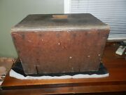 Antique Wooden Cooler Ice Chest Zinc Lined Homebrew Homemade Rustic Primitive