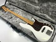 Fender Precision Electric Bass Guitar S/n Us19103814 W/ Hard Case Japan Shipped