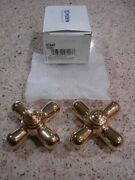 New Moen Faucet 97447 Pb Cross Handles Hot And Cold Water New Old Stock Monticello