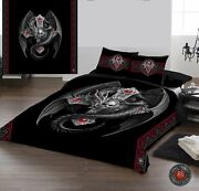 Anne Stokes - Gothic Dragon - Duvet Cover Bed Linen Set - Available In 3 Sizes