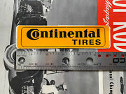 Vintage Original Continental Tires Motorcycle Bike New Old Stock Sticker Yellow