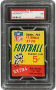 1964 Philadelphia Philly Gum Football 5-cent Wax Pack Psa Nm 7 Nfl Free Shipping