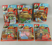 Lot Of 6 Nos Think Way Disney Toy Story Action Figures - Buzz, Woody, Hamm And Rex