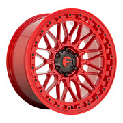 Fuel Off-road D758 Trigger 20x9 +1 Candy Red Wheel 6x139.7 6x5.5 Qty 4