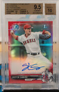 Griffin Canning 2017 Bowman Chrome Draft Red Refractor Rc Auto 1/5 Bgs 9.5/10