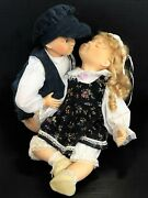 Boy And Girl Dolls Large Porcelain Hands Feet And Face Soft Body