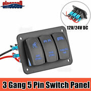 3 Gang On-off Toggle Switch Control Panel 2 Usb Charger 12v For Car Marine Boat