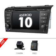 Cam+obd2+android 10 7 Lcd Car Stereo Gps Navi Dvd Touchscreen For Mazda 3 04-09