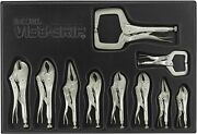 Irwin Vise-grip Locking Pliers Set With Tray, 10-piece 1078tray Silver Hot.../
