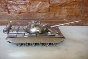 Extremely Rare Romanian Military Tr-85 Tank Factory Stainless Steel Model