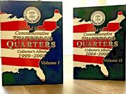 1999-2008 Us State Quarters Complete Set 100 Coins 2 Per State Face Value 25