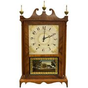 Bishop And Bradley 30 Hour Woodworks Pillar And Scroll Clock Watertown Ct