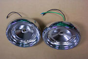 1955 Ford And Thunderbird Tail Light Chrome Housings New Pair Show Condition 55
