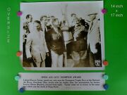 1934 Colonel Roscoe Turner -air Race- 14 X 17 B And W Dispatch News Photo And Banner