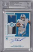 Dand039andre Swift 2020 Encased Dual Swatch Sapphire Rc On Card Auto 3/25 Bgs 9/10