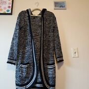Poof Womenand039s Cardigan Hooded Sweater Pockets. Monochrome Greyscale Neural Small