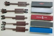 Ho Scale Cotton Belt 5 Impack Spine Cars With Containers