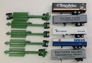 Ho Scale Burlington Northern 5 Impack Spine Cars With Trailers