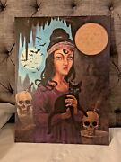 Disney World Witch Of Walpurgis Haunted Mansion Sinister 11 Giclee Rare Prop
