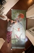 """Full Size 120"""" Tall Haunted Mansion Tightrope Sally Stretching Portrait Disney"""