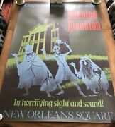 Attraction Poster 36x54 Disneyland 1969 Haunted Mansion Rare Full Size Prop D23