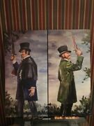 20x40 Haunted Mansion Duelers Dueling Ghost Giclee On Canvas Halloween Prop