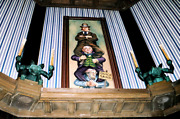 Giclee Haunted Mansion Holiday Stretching Room Gallery Set 16x48 1960s Vintage