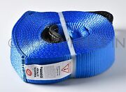 3 26000 Lbs 3x30 12t Tow Snatch Strap 30 Ft Winch Protector Off-road Snatch
