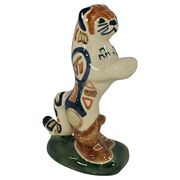 Shearwater Pottery Puss N' Boots Fairytale Cat Figure Circa 1985