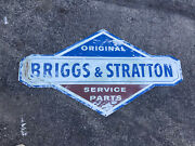 Huge Service Vtg Briggs Stratton Motor Sign Gasoline Gas Oil Seed Feed 41x23