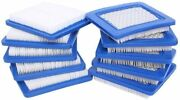 10 Lawn Mower Replacement Parts Pack 491588s Air Filter For Briggs Stratton Oem