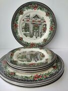 8 Royal Stafford Christmas Plates, Made In Burslem,england11and,8.5..blue Stamped
