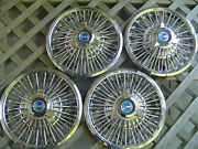 Four Vintage 1965 1966 1967 Ford Mustang Fairlane Spinner Hubcaps Wheel Covers