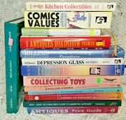 Huge Lot 14 Collector Price Guide Books Antiques, Comics, Hallmark Toys And More