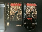 Resident Evil Long Box Ps1 Sony Playstation Complete W/ Reg Card