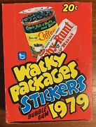 1979 Topps Wacky Packages Unopened Box 1st Series Nm/m Owned Since 1979