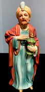 Homco 5216 Nativity Wiseman Vintage 7.5x3andrdquo Hand Painted Signed