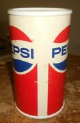 2195 Large 9.5 Tall X 5 1/4 Wide Plastic Pepsi Coin Bank In Good Shape Used