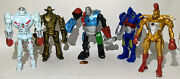 Real Steel Action Figures Set.5 Fighters.light Up.midas.six Shooter,noisy Boy +