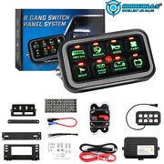 Universal 8 Gang Switch Panel Led Light Bar On-off Circuit Control Relay System
