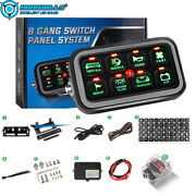 8 Gang Switch Panel On-off Green Led Car Switch Panel Control Relay System Kit