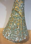 Vintage Savoy China Art Pottery Vase W/speckled Gold And White