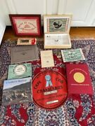 C1940 Cape Cod Cranberries South Carver Ma Advertising Lot Signs Box Labels