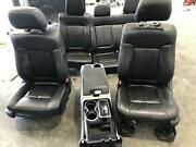 2011-2014 Ford F150 Front Seat Set Rear Bench Console Black Leather Heat/mem/pwr