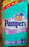 Vintage Pampers 5 Plastic Diaper Old Diapers 16ct