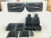 2015 - 2017 Ford Mustang Gt California Special Coupe Seat Set Suede Blk Leather