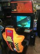 Sega Strike Fighter Sit-down Arcade Machine - Looks And Works Great Local Pick Up